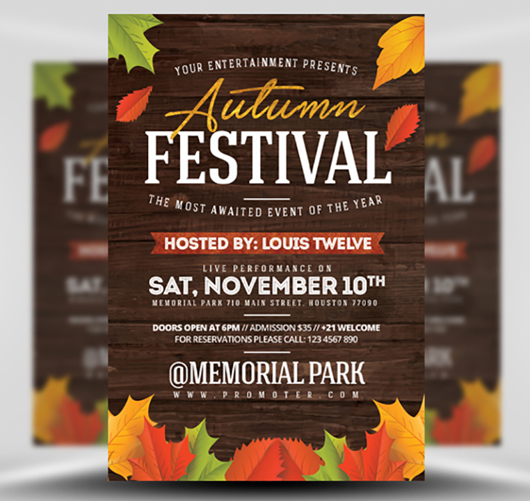 Autumn Festival Flyer Template - FlyerHeroes
