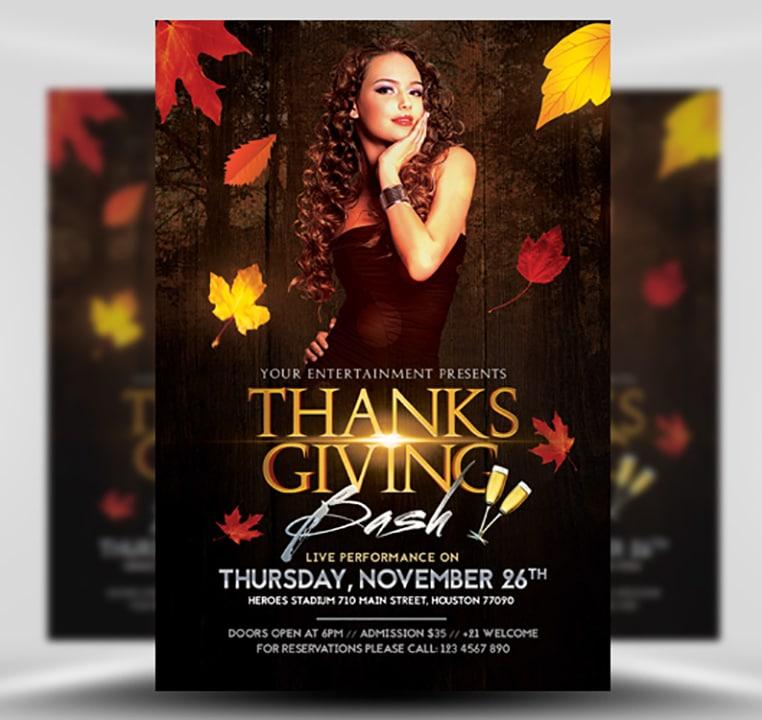 Thanksgiving Club Flyer Template - FlyerHeroes