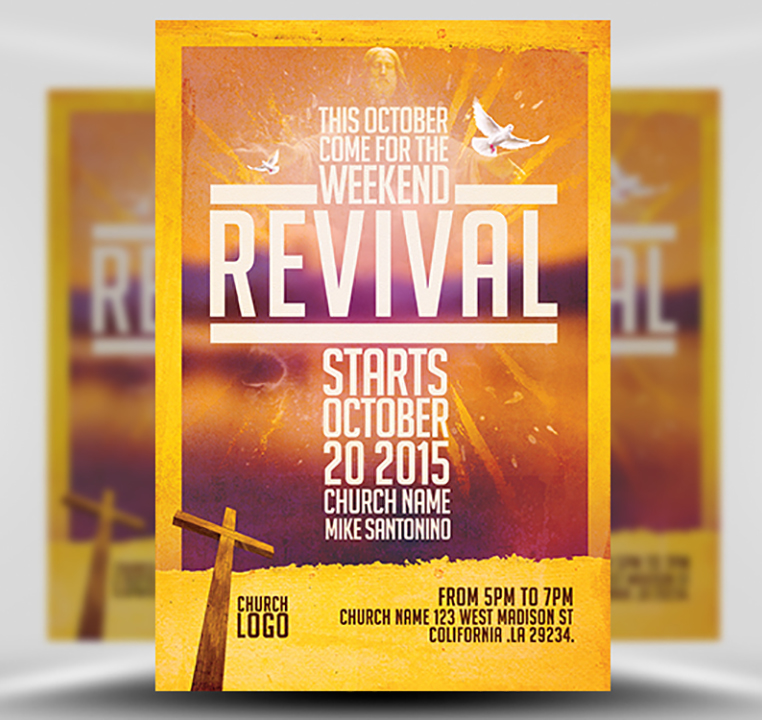 Church Revival Flyer Template - FlyerHeroes