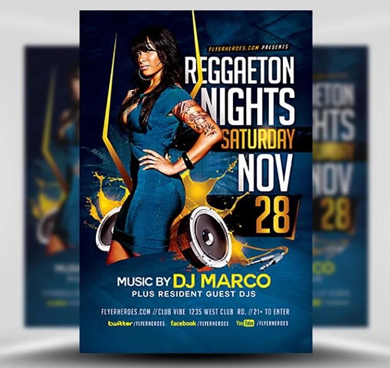 Reggaeton Flyer Template - FlyerHeroes