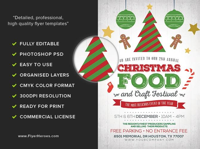Christmas Food  Crafts Festival Flyer Template - FlyerHeroes