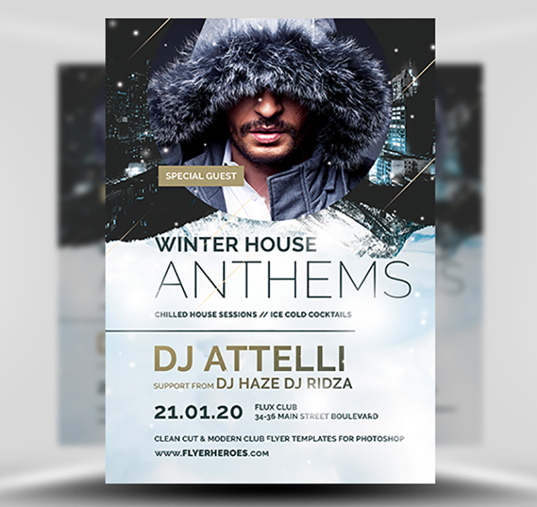 Winter Anthems Flyer Template - FlyerHeroes