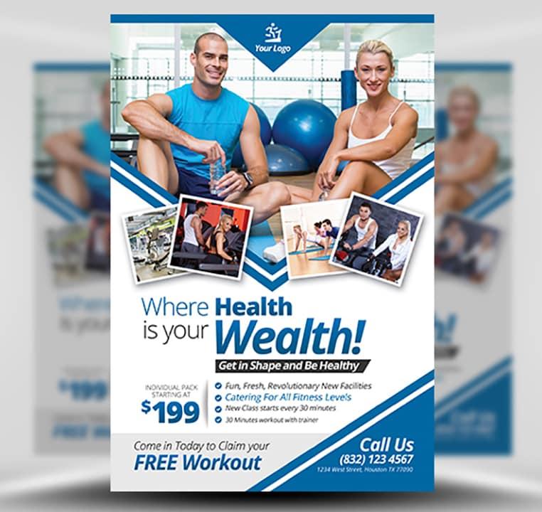 Fitness Flyer Template - FlyerHeroes