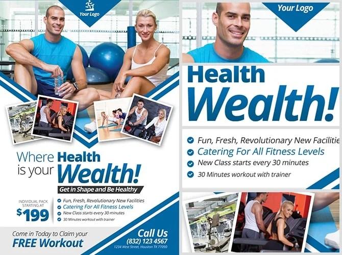 Fitness Flyer 22 Fitness Flyers Bundle ~ Flyer Templates - fitness flyer
