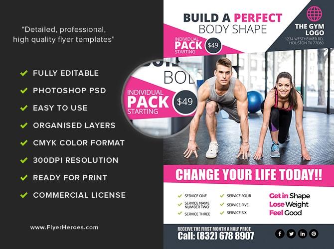 Gym Flyer Template 2 - FlyerHeroes