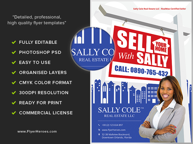 Sell Your Home Realtor Flyer Template - FlyerHeroes