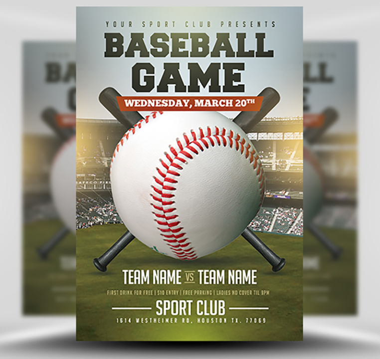 Baseball Flyer Template 2 - FlyerHeroes