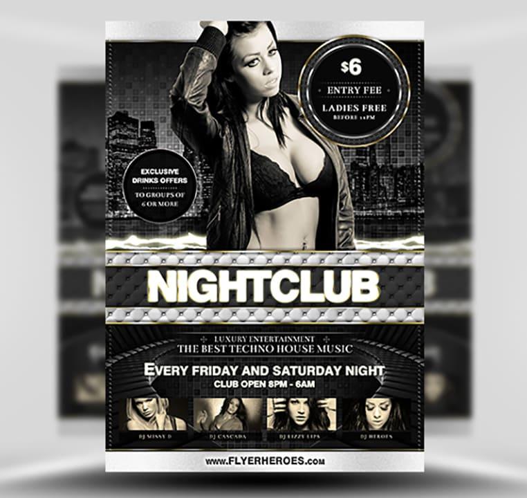 Deluxe Nightclub Flyer Template - FlyerHeroes