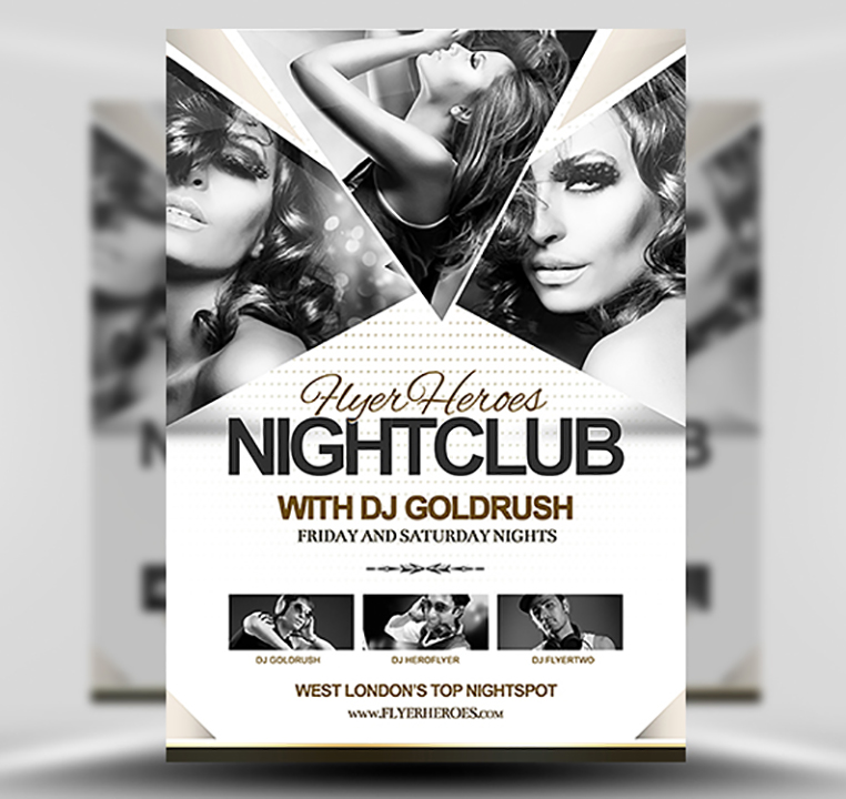 FH Nightclub Flyer Template - FlyerHeroes