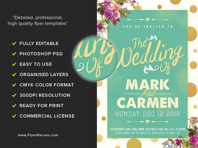 The Wedding Flyer Template - FlyerHeroes