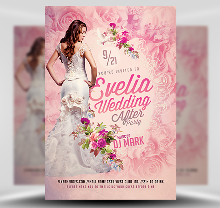 Wedding After Party Flyer Template - FlyerHeroes