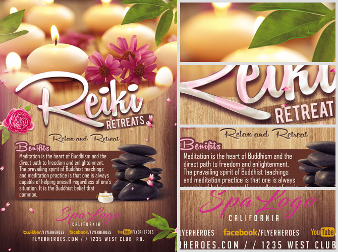 Relax and Retreat SPA Flyer Template - FlyerHeroes