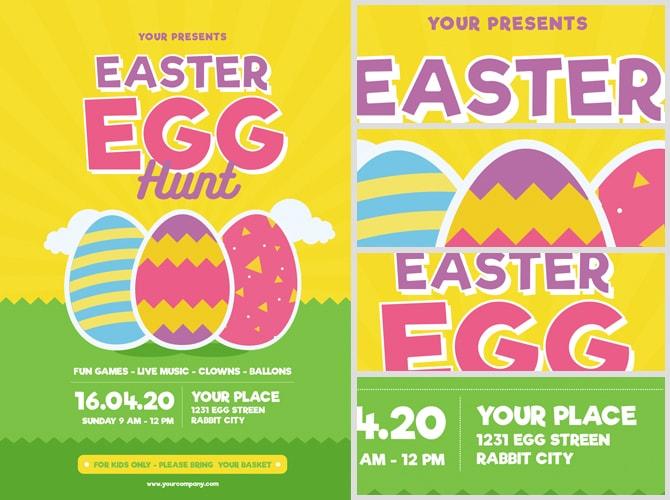 Easter Egg Hunt Flyer Template v3 - FlyerHeroes