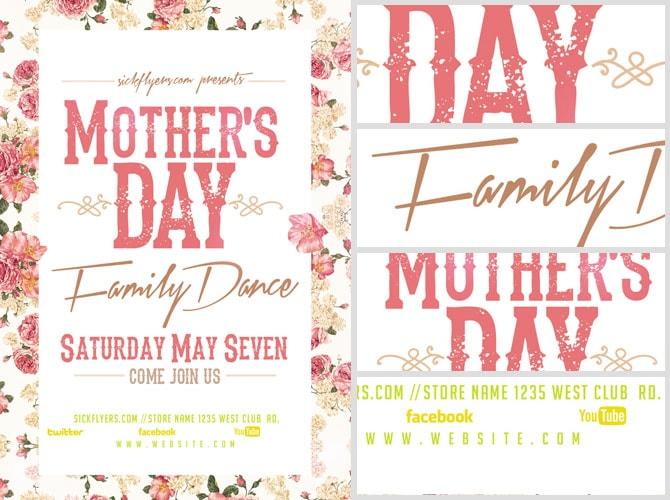 Mother\u0027s Day Family Dance Flyer Template - FlyerHeroes
