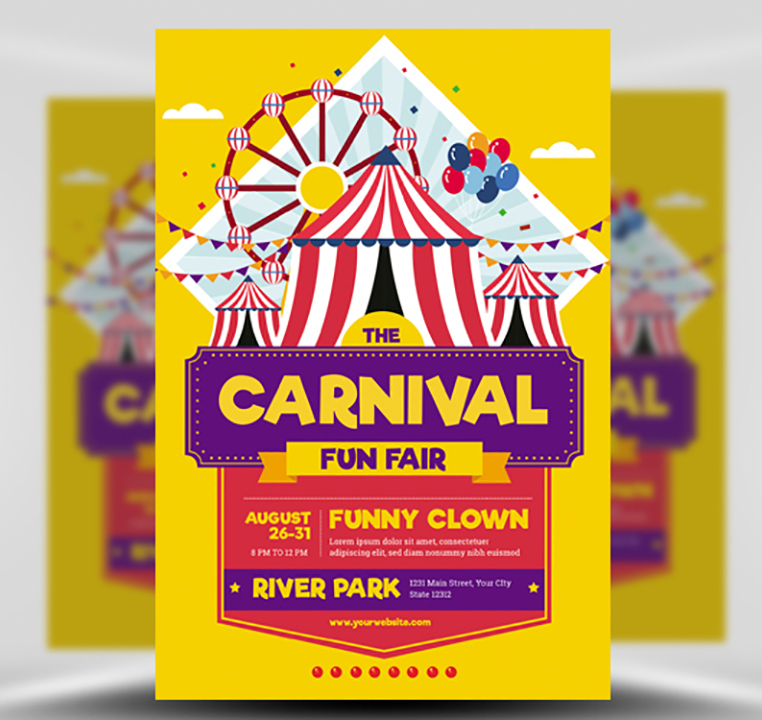 Carnival Funfair Event Flyer Template - FlyerHeroes