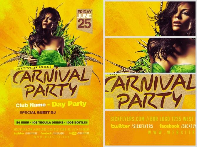 Carnival Flyer Template - FlyerHeroes