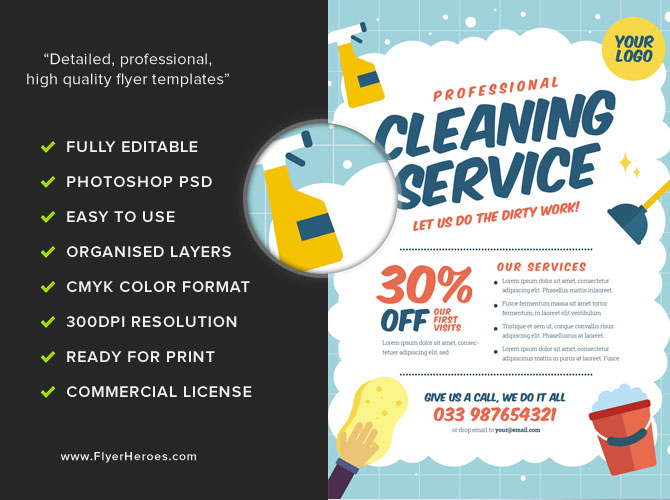Cleaning Service Flyer Template V2 - FlyerHeroes