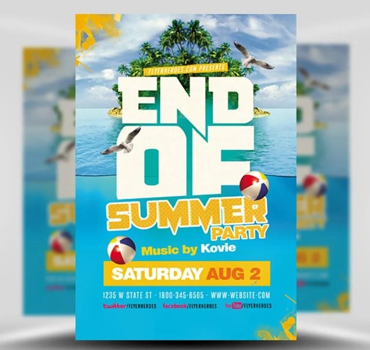 End of Summer Flyer Template - FlyerHeroes