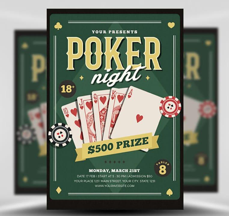 Poker Night Flyer Template - FlyerHeroes