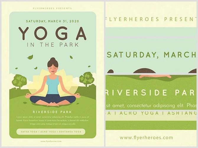Yoga in the Park Flyer Template - FlyerHeroes