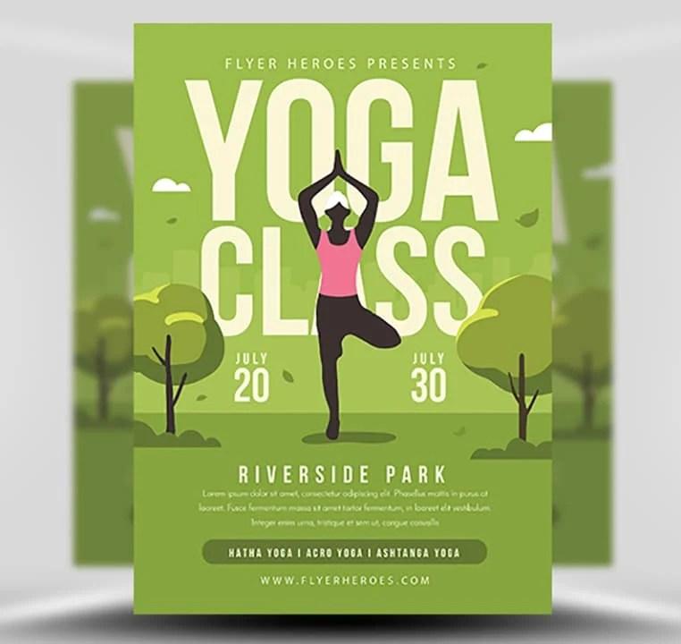 Yoga in the Park Flyer Template 2 - FlyerHeroes