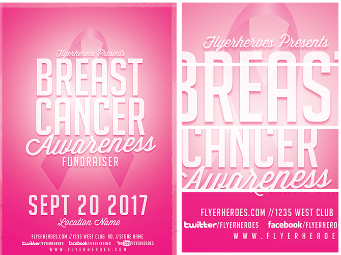 Cancer Awareness Fundraiser Flyer Template - FlyerHeroes