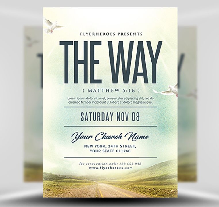 The Way Church Event Flyer Template - FlyerHeroes