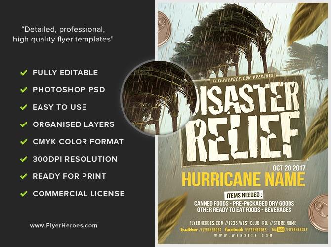Disaster Relief Flyer Template v3 - FlyerHeroes