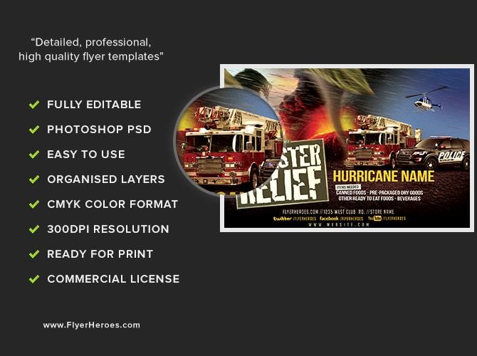 Disaster Relief Flyer Template v1 - FlyerHeroes