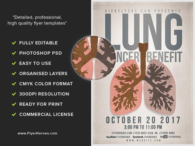 Lung Cancer Awareness - FlyerHeroes
