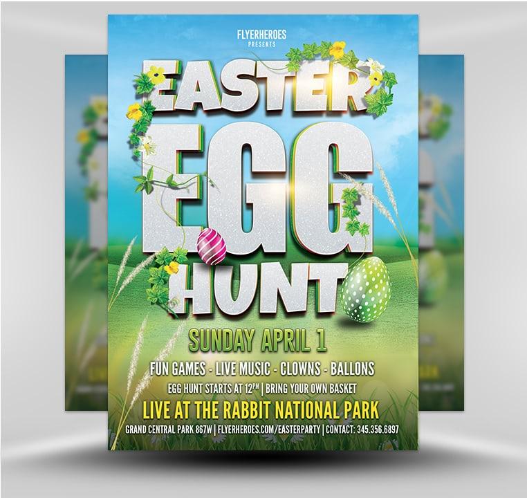 Easter Party Flyer Template v7 - FlyerHeroes