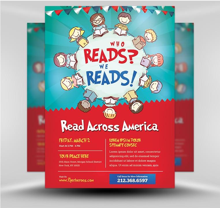 Read Across America v1 - FlyerHeroes