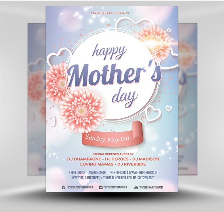 Mother\u0027s Day Flyer Template v6 - FlyerHeroes