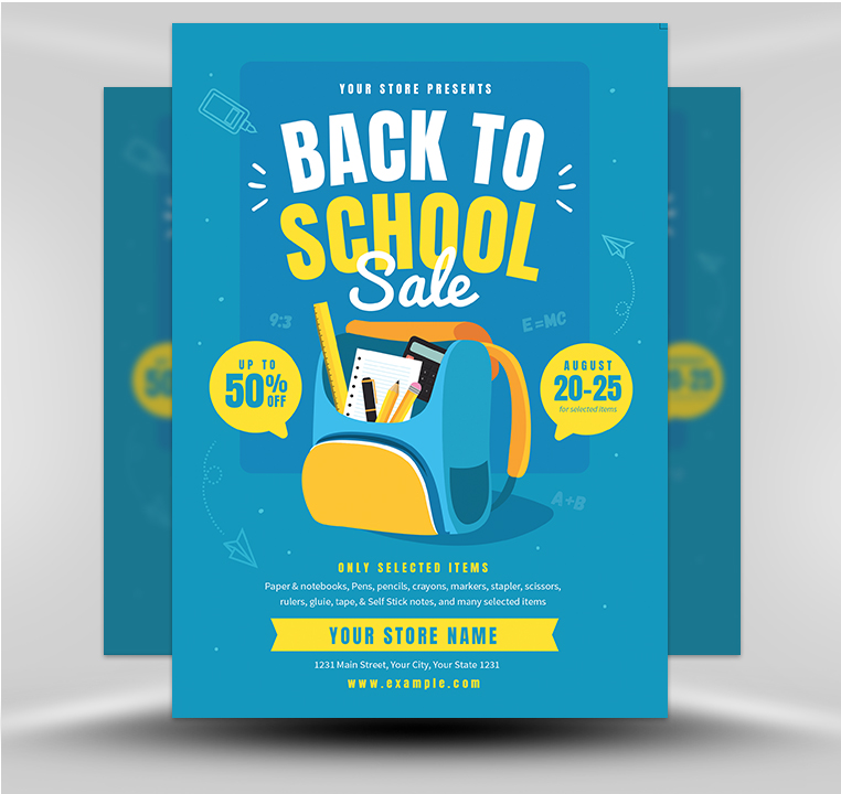 Back to School 04 - FlyerHeroes