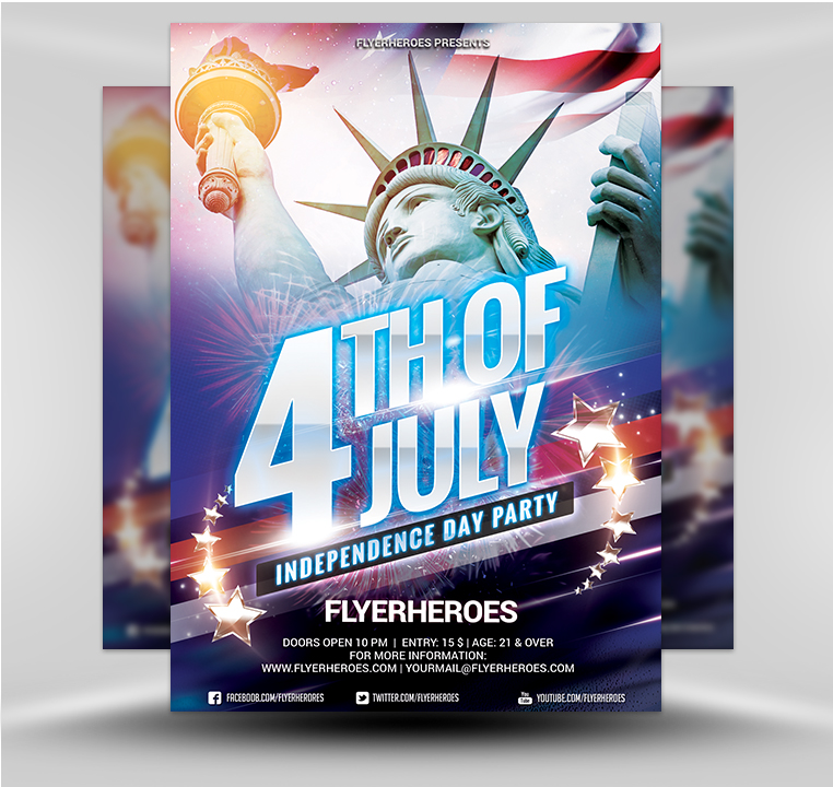 Independence Day 4 - FlyerHeroes