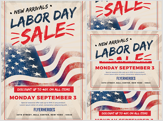 Labor Day Sale 1 - FlyerHeroes