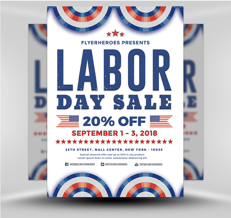Labor Day Sale 4 - FlyerHeroes