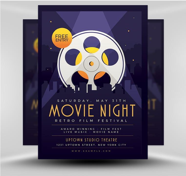 Movie Night - FlyerHeroes