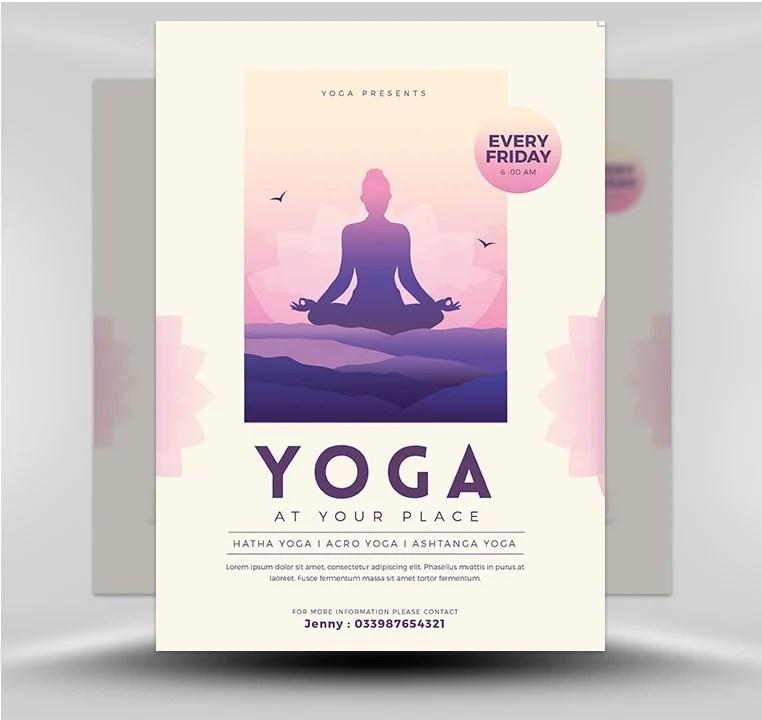 Yoga Flyer - FlyerHeroes