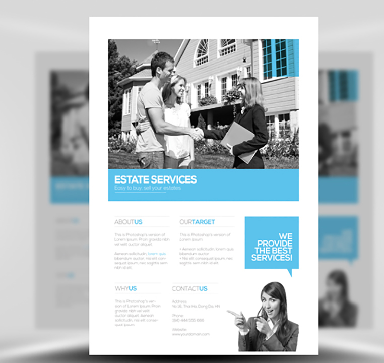Real Estate Flyer Template - FlyerHeroes