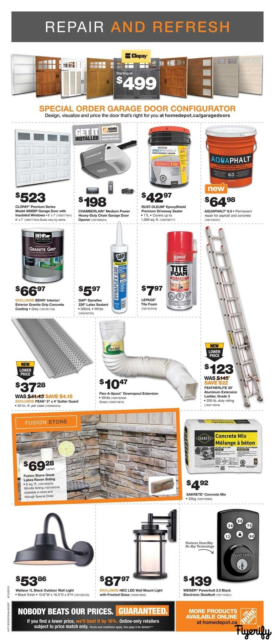 20' Ladder Home Depot Home Depot On Flyer September 5 To 11 Canada