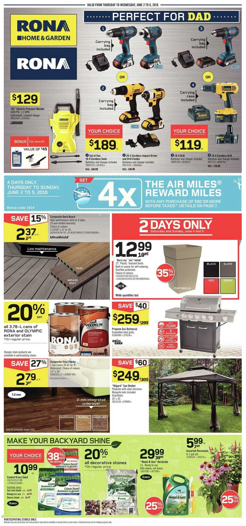 Rona Moving Boxes Rona On Flyer June 2 To 8 Canada