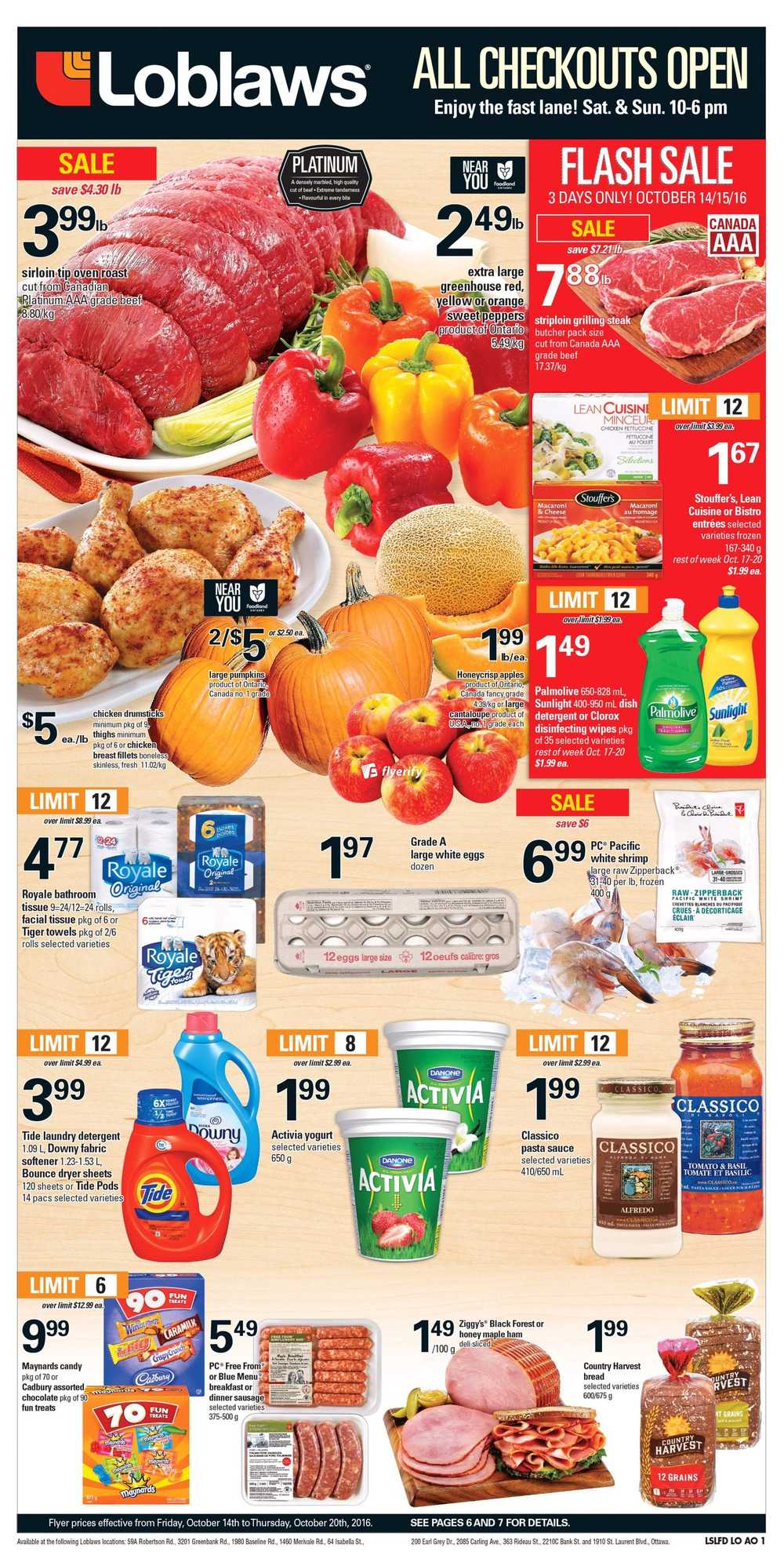 Loblaws Ottawa Region Flyer October 14 To 20 Canada - The Source Flyer Ottawa