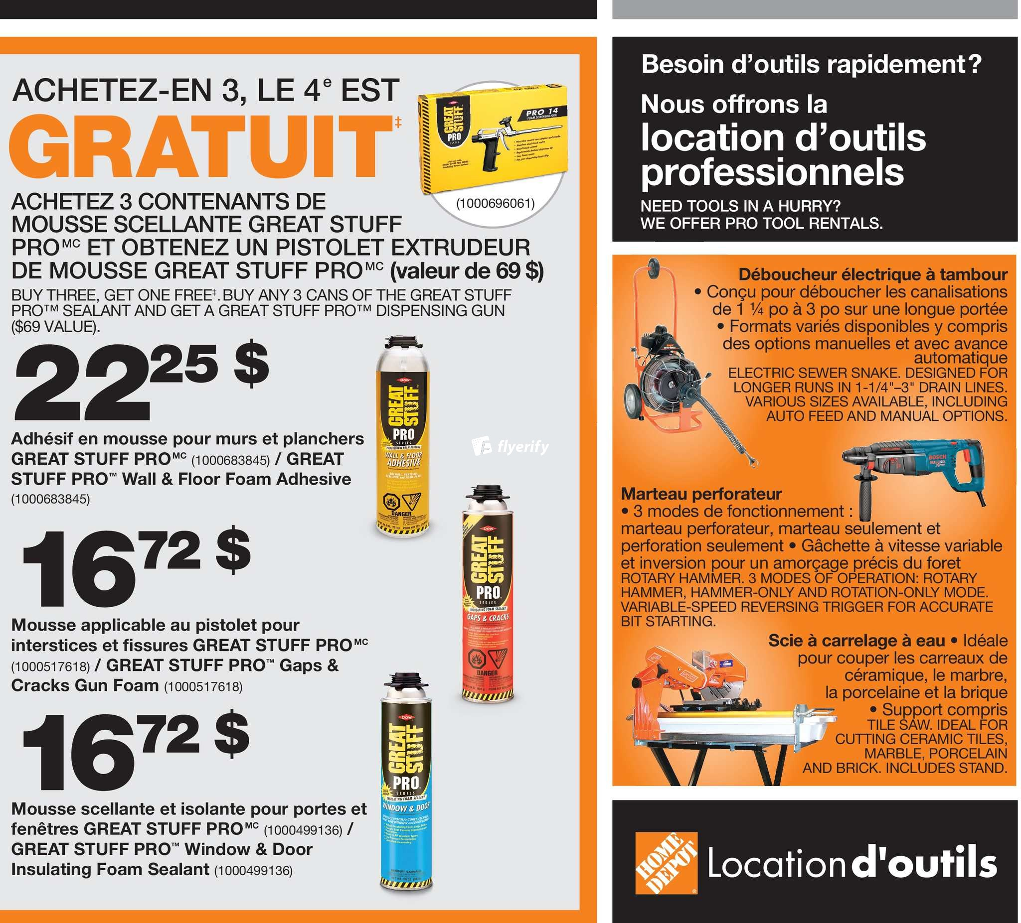 Plancher Home Depot Home Depot Qc Pro Black Friday Flyer November 16 To 23 Canada