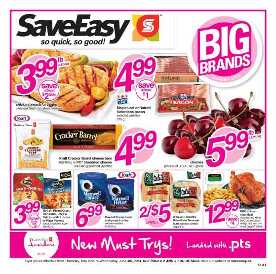 SaveEasy flyer May 29 to June 4 Canada