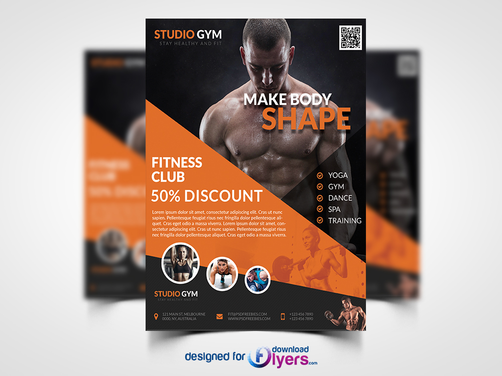 Health and Fitness Flyer PSD Bundle Flyer PSD