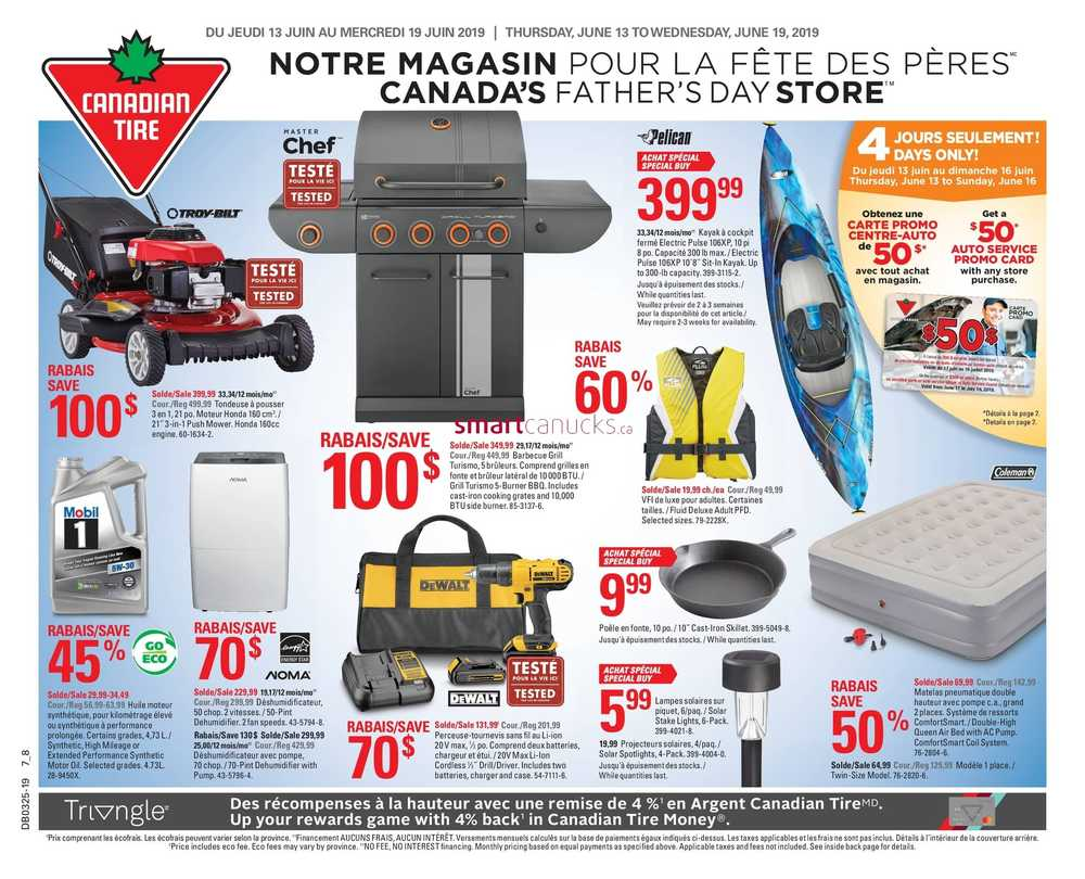 Pouf Exterieur Canadian Tire Canadian Tire Qc Flyer June 13 To 19