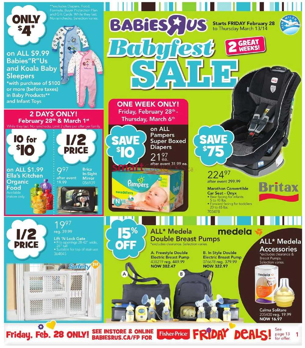 Babies R Us Canada Babies R Us Babyfest Sale Flyer February 28 To March 13