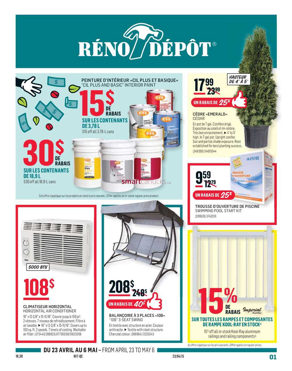 Porte Interieur Reno Depot Reno Depot Flyer April 23 To May 6