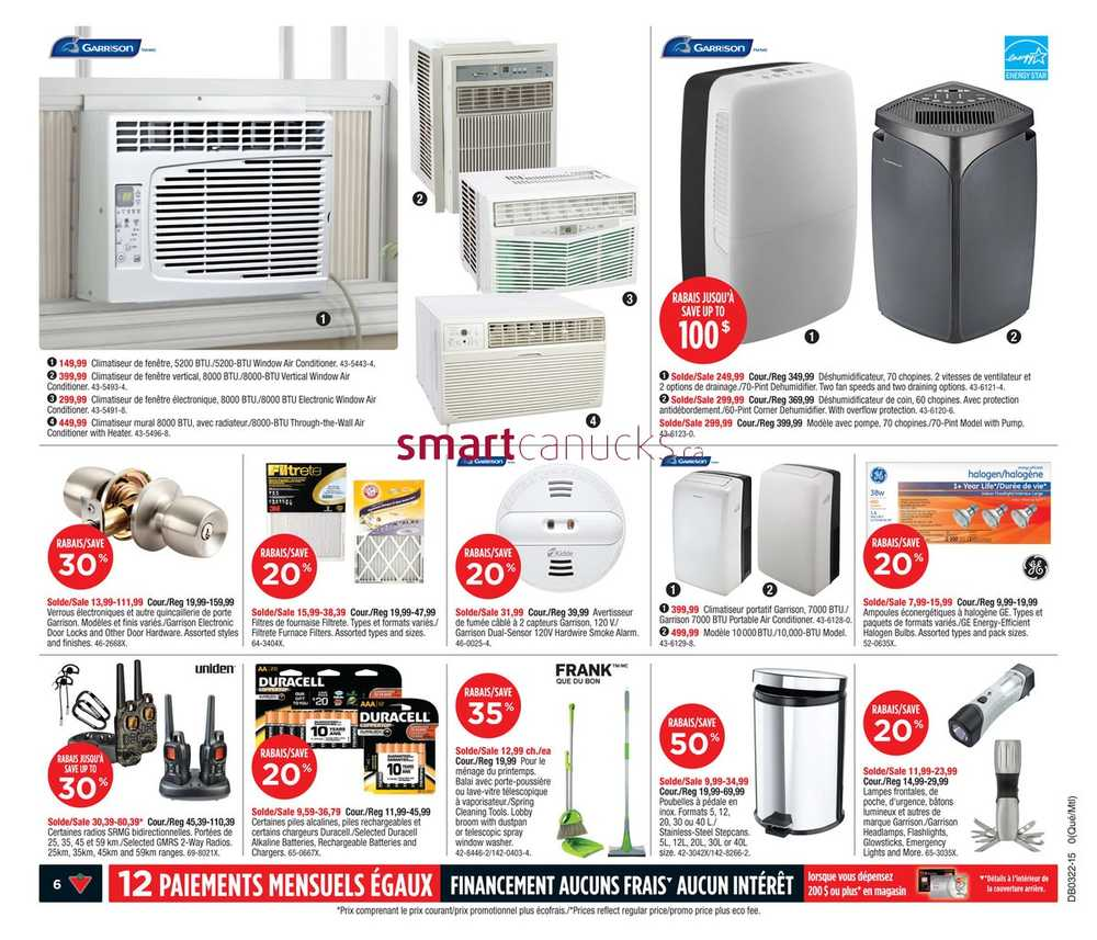 Vertical Window Air Conditioner Canada Canadian Tire Qc Flyer May 29 To June 4
